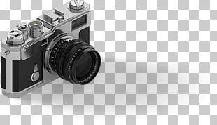 Digital SLR Camera Lens Photography Black And White PNG