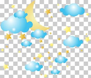 Cloud Star Moon PNG