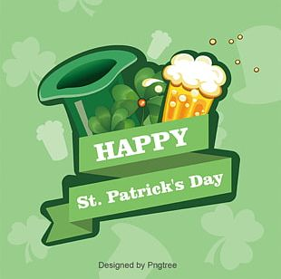 Ireland Saint Patricks Day Green Clover Illustration PNG