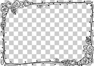 Black And White Beach Rose Adobe Illustrator PNG