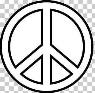 Peace Symbols Black And White Drawing PNG