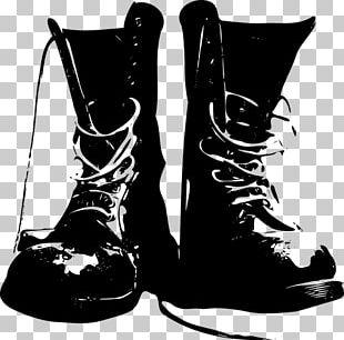 Combat Boot Cowboy Boot Shoe PNG