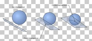 Plane–sphere Intersection Line–sphere Intersection Geometry PNG