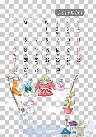 Calendar November Clothing Clothes Line PNG