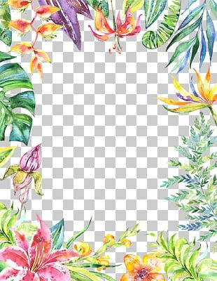 Watercolor Painting Floral Design Art PNG