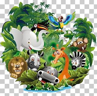 Cartoon Animal Jungle PNG