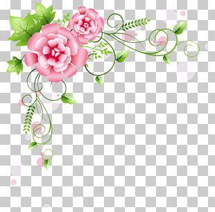 Flower Frame Rose PNG