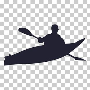 Canoeing And Kayaking Silhouette PNG