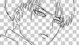 Line Art Mikasa Ackerman Attack On Titan Levi Drawing PNG