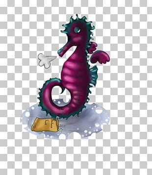Seahorse Pink M Cartoon Character RTV Pink PNG