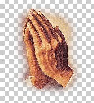 Hands Praying Vintage PNG