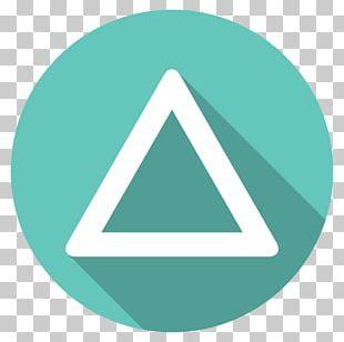 Triangle Symbol Aqua PNG