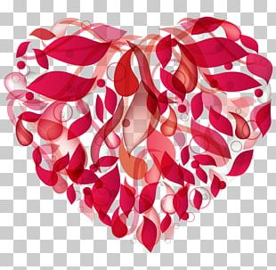 Valentine's Day Heart Abstract PNG
