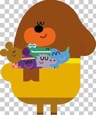 Duggee Hugging His Friends PNG