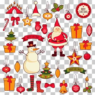 Santa Claus Christmas Tree Greeting & Note Cards PNG