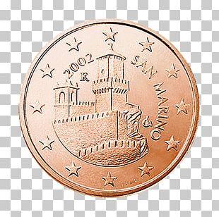 Guaita Sammarinese Euro Coins 5 Cent Euro Coin 1 Cent Euro Coin PNG