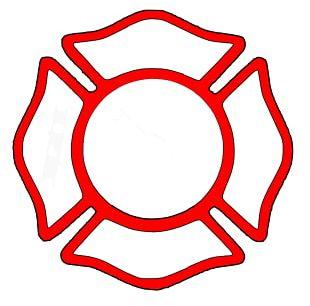 Firefighter Fire Department Maltese Cross PNG