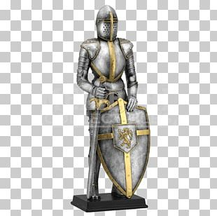 Middle Ages Knight Statue King Arthur Sculpture PNG