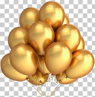 Balloon Party Gold Metallic Color Stock Photography PNG
