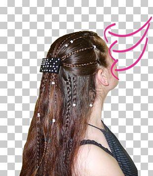 Long Hair Hair Tie Braid Headpiece PNG
