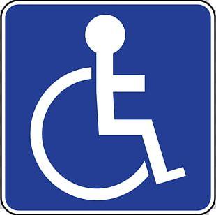 Disabled Parking Permit Disability Car Park Sign PNG