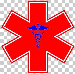 Star Of Life Emergency Medical Technician Emergency Medical Services Paramedic Decal PNG