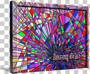 Stained Glass Symmetry Modern Art Line Pattern PNG