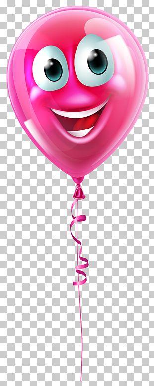Balloon Face Smiley Icon PNG