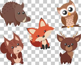 Cute Animals Material Waibo PNG