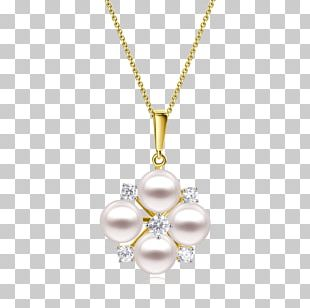 Pearl Earring Necklace Locket Jewellery PNG