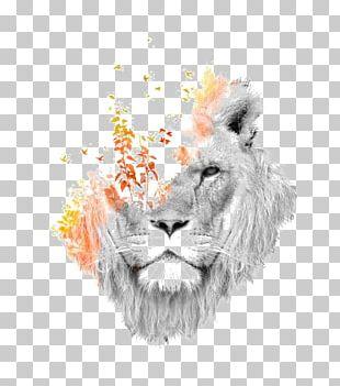 Lion Roar Art Canvas Print PNG