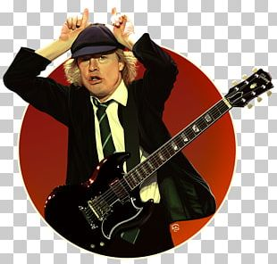 Angus Young AC/DC Guitarist Rock And Roll Rock Music PNG