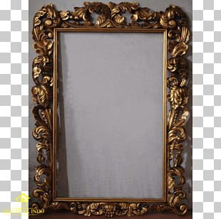 Frames Gold Leaf Mirror Painting PNG