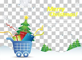 Graphic Design Christmas Poster Shopping PNG