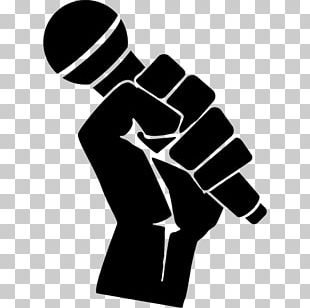 Microphone Silhouette Music PNG