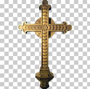 Altar Crucifix Cross Wood Carving PNG