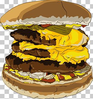 Cheeseburger Hamburger Fast Food Ice Cream Cones French Fries PNG