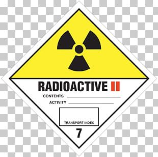 Dangerous Goods HAZMAT Class 7 Radioactive Substances Radioactive Waste Radioactive Decay Label PNG