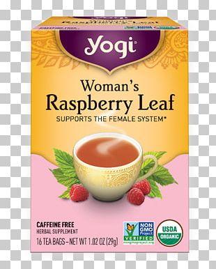 Yogi Tea Tea Bag Herbal Tea Red Raspberry Leaf PNG