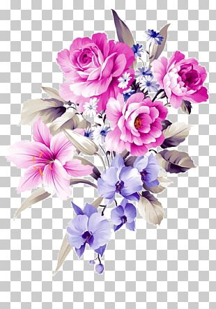 Flower Bouquet Purple PNG
