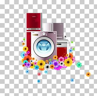 Home Appliance Washing Machine Refrigerator PNG