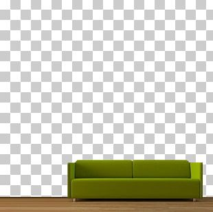 Sofa Bed Chaise Longue Green Angle PNG