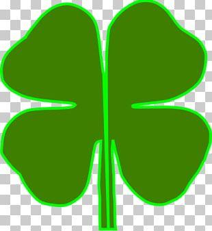 Saint Patrick's Day Shamrock Four-leaf Clover PNG