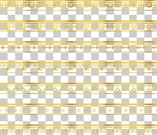 Ribbon Lace Gold Pattern PNG
