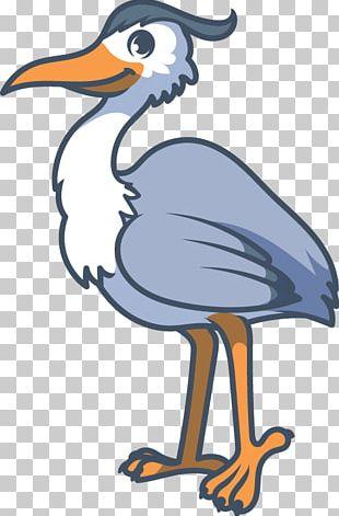 Crane Common Ostrich Bird Cartoon PNG