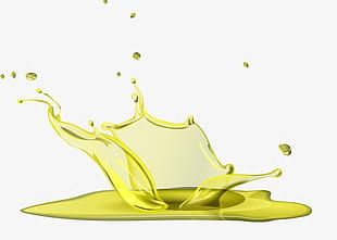 Oil And Water Splash Effect Elements PNG