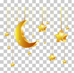 Golden Stars Euclidean PNG
