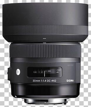 Sigma 30mm F/1.4 EX DC HSM Lens Sigma 18-35mm F/1.8 DC HSM A Canon EF Lens Mount Camera Lens Sigma Corporation PNG