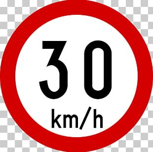 Traffic Sign Speed Limit Road Kilometer Per Hour 30 Km/h Zone PNG