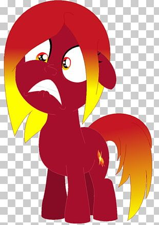 Horse Rooster Character PNG